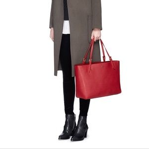 Tory Burch large red York buckle tote